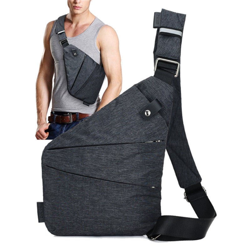 IPRee Men Anti Theft Safety Sling Bag Polyester Messeng