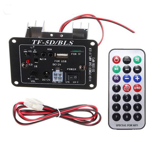 12V Audio Subwoofer MP3 Decoder Board Amplifier With Bl