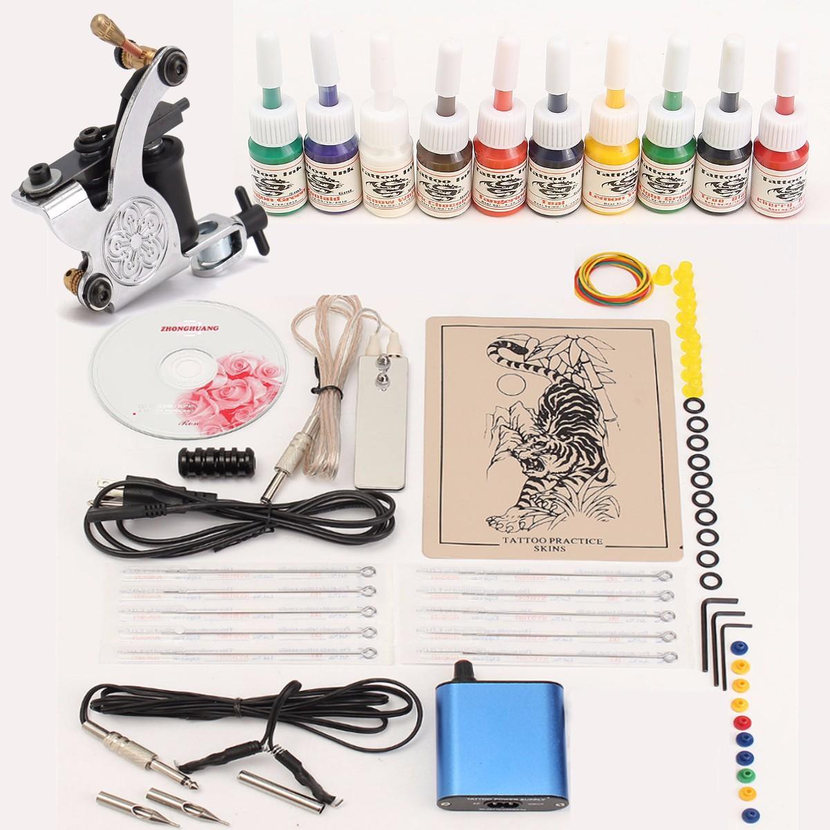 Professional Tattoo Machine Kits With High LCD Power Eq