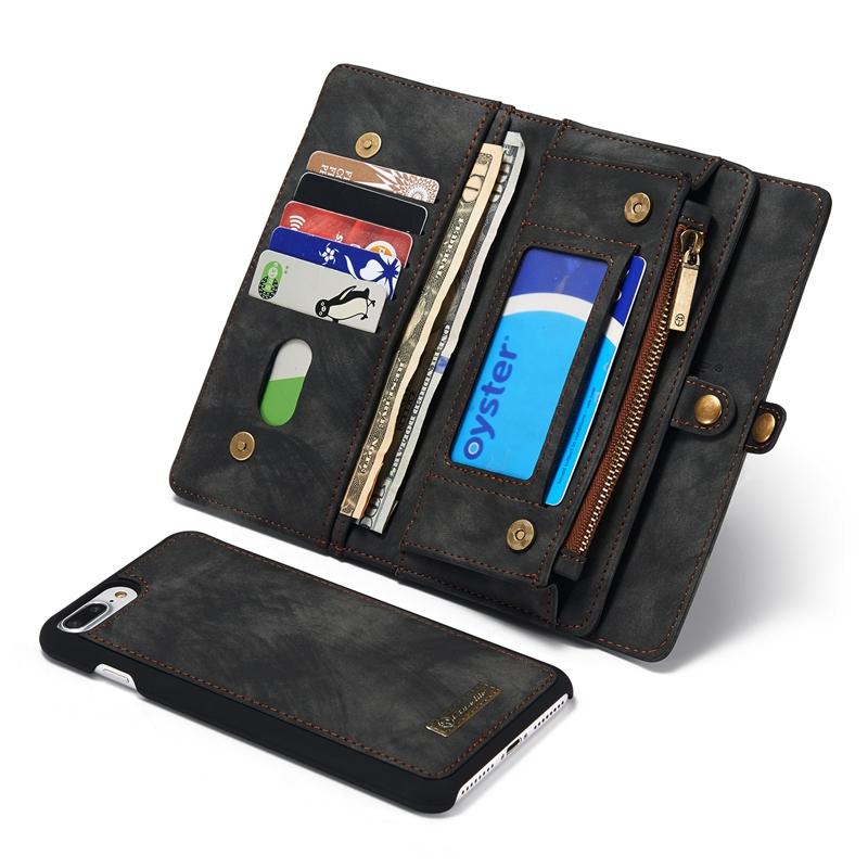 Caseme Zipper Wallet Magnetic Detachable Case For iPhon