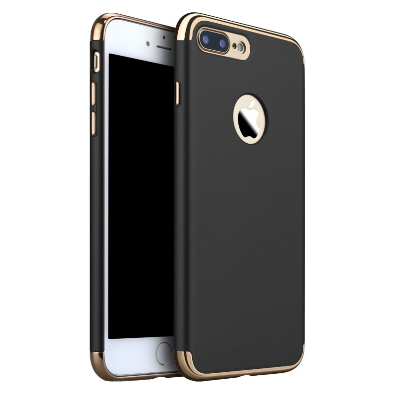 3 In 1 Luxury Plating Ultra Thin Hard PC Shockproof Back Case Cover For Apple iPhone 7 Plus