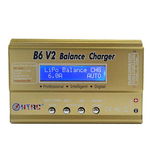 HTRC B6 V2 80W 10A Digital RC Battery Balance Charger D