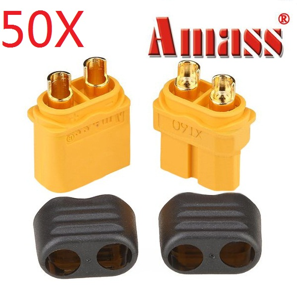 50X Amass XT60+ Plug Connector With Sheath Housing Male & Female 1 Pair