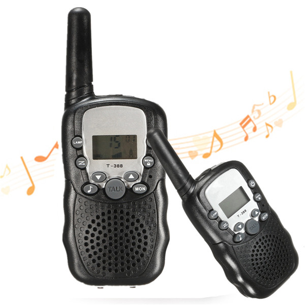 T-388 2Pcs LCD 3km Walkie Talkie 8/20/22 Channels 2 Wa