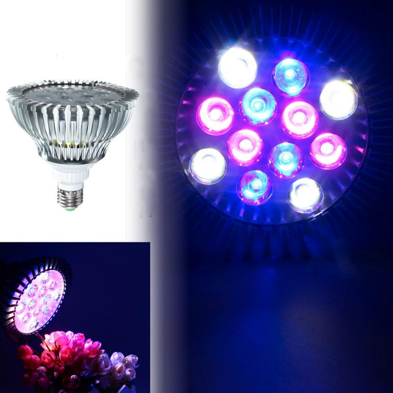 12W E27 PAR38 LED Full Spectrum Coral Reef Plant Grow L
