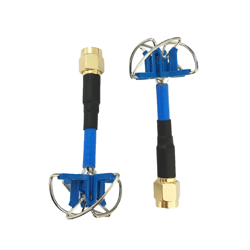 Aomway RHCP 3dBi 60mm 6cm Short Antenna FPV 4-leaf Clover Antenna A Pair SMA/RP-SMA for TX RX