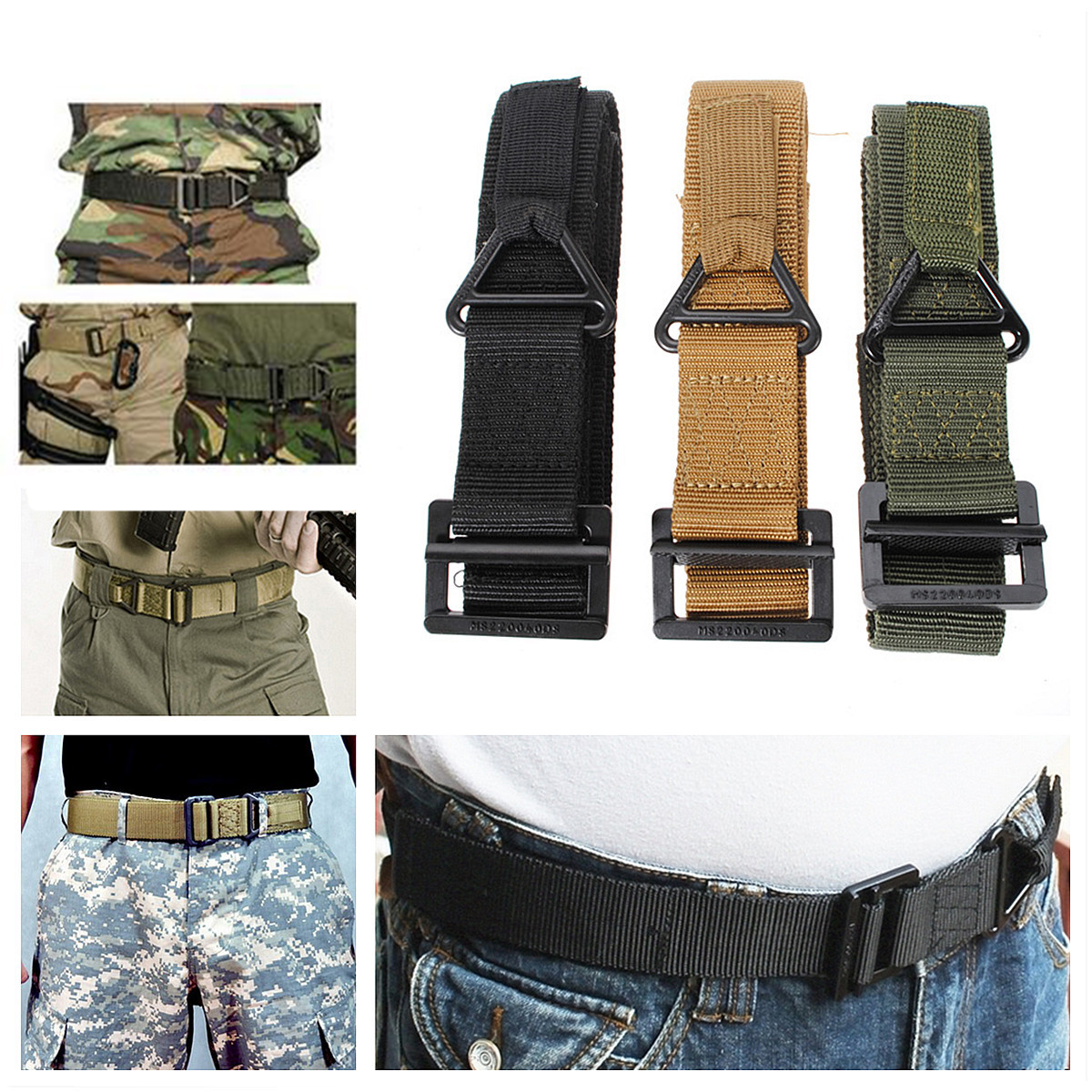 Survival Tactical Waist Belt Strap Military Emergency Rescue Protection Waistband For Hunting