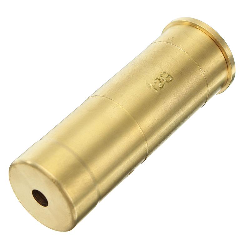 12GA Gauge Laser Bore Sighter Red Dot Sight Brass Cartr