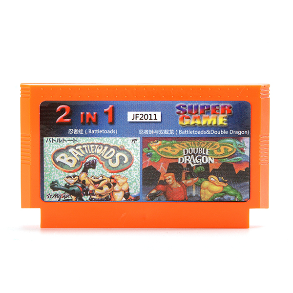 2 In 1 8 Bit Game Cartridge Double Dragon Ninja Frog fo
