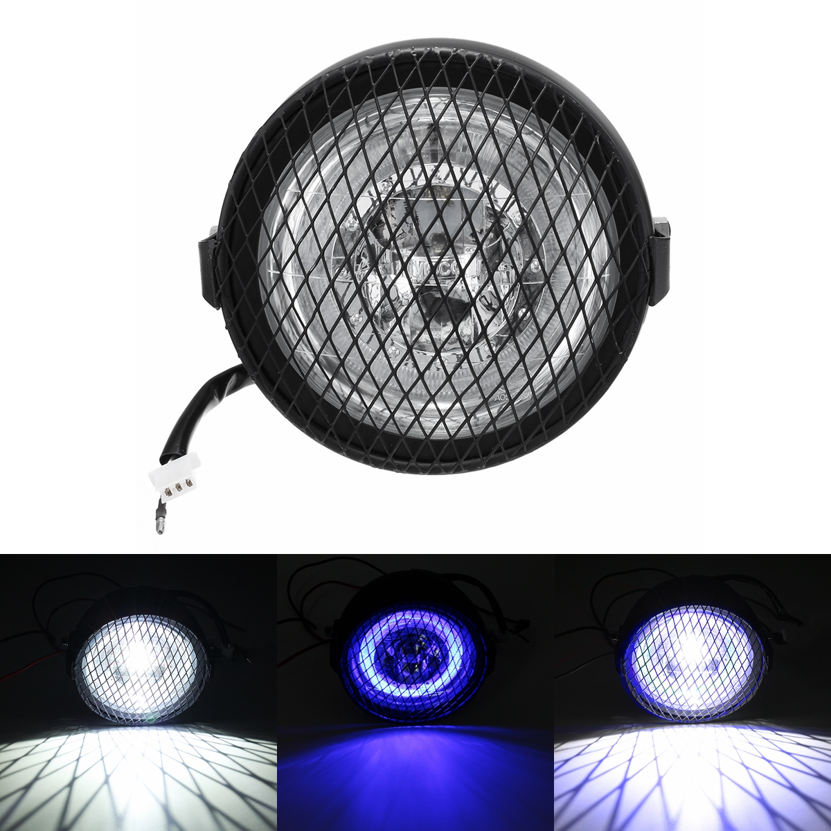 6.5inch Grill Retro Vintage Motorcycle LED Side Mount H
