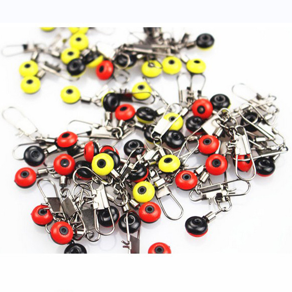 100pcs Steel Alloy Fishing Connector Solid Rings With I