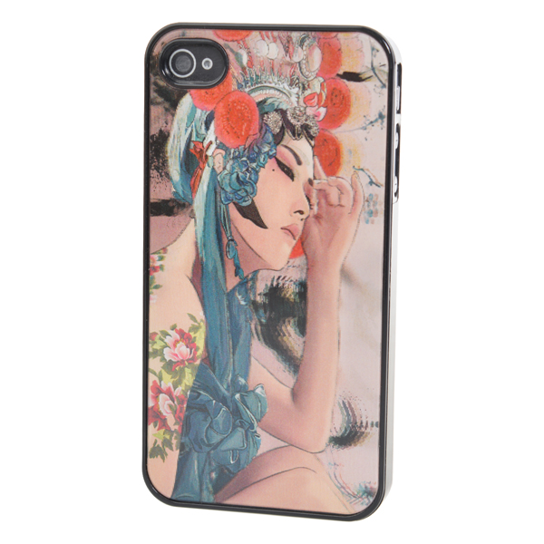 3D Dynamic State Beijing Opera Human Pattern Case For iPhone 4 4S
