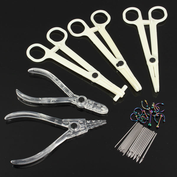 Body Jewelry Piercing Tool Kit Navel Ring Pliers Forcep