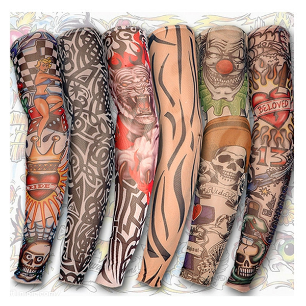 Tattoo Arm Leg Sleeves Sun Protection Cycling Halloween