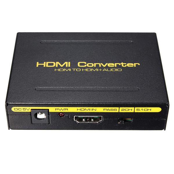 5.1CH 1080P HD to HD SPDIF RCA L/R Audio Splitter Extra