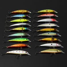 Minnow Fishing Lures Crank Bait with Hooks Bass Fishing Lure Bait