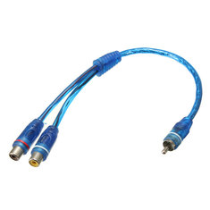RCA Y Splitter Lead Adapter Cable 1 x Male To 2 x Female Connector Car Audio
