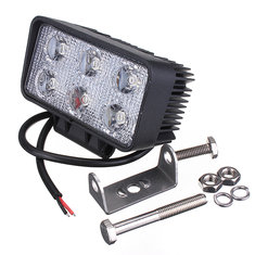 18W Car 6LED Work Light Flood Light Fog Lamp Beam Off White Road Drive