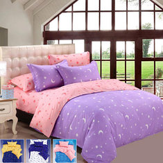 4pcs Bedding Suit Polyester Fibre Star