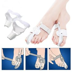 2 pcs Hallux Valgus Big Toe Bunion Straightener Corrector