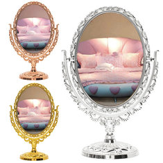 Exquisite Makeup Double-sided Mirror Classical Toilet Glass Stand Cosmetic Mirrors