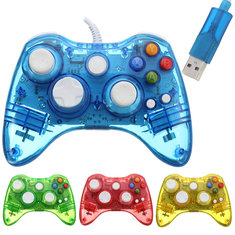 USB Glow Wired Controller Gamepad Fit For Microsoft XBOX 360