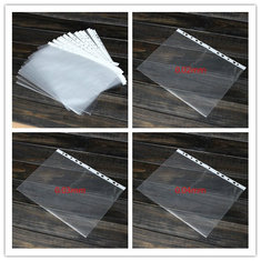100PCS Transparent Plastic A4 Paper Folder
