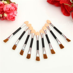 10pcs Double End Eye Shadow Brush Sponge Eyeliner Makeup Cosmetic Tool
