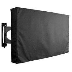 30-32 Inch Black TV Cover Outdoor Patio Wall Mount Flat Protector Weatherproof