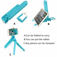 3 in 1 Multi-function Foldable Folding Tripod Holder Selfie Stick For iPhone Samsung iPad