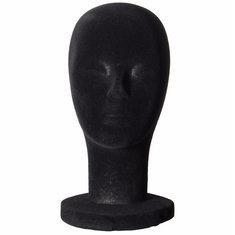 Foam Mannequin Head Black Velvet Styrofoam Wigs Display Model