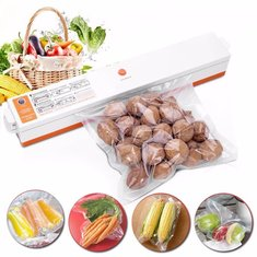 Automatic Electric Vacuum Sealer Food Saver Storage Bags Kitchen Seal Ring Machine