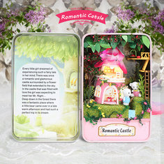 Hoomeda E002 Romantic Castle DIY Dollhouse Kit Box Theatre Kids Gift Collection