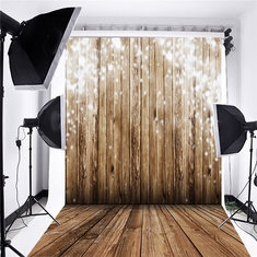 5x7ft Silk Photography Backdrops Background Photo Studio Props kids Wooden Wall Floor