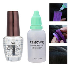 30ml Wig Glue Remover Tape 15ml Wig Transparent Adhesive Glass Hair Glue Extensions