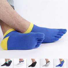 Mens Summer Mesh Thin Casual Sport Ankle Breathable Deodorant Boat Socks Five Toes Socks