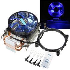 95mm LED Copper CPU Cooler Fan Heat Sink for Intel LGA775/1156/1155 AMD AM2/AM2+