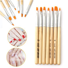 Professional Nail Brush Painting Tool Pen Polish DIY Set Kit 7pcs