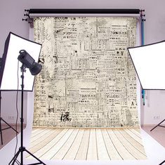 5x7FT Paper Wall Wood Floor Photography Backdrops Studio Photo Props Background