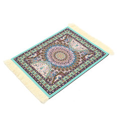 28cm x 18cm Light Blue Bohemia Style Persian Rug Mouse Pad For Desktop PC Laptop Computer
