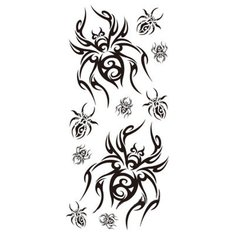5pcs Halloween Spider Terror Tattoo Sticker Temporary Waterproof Body Art Decal Makeup