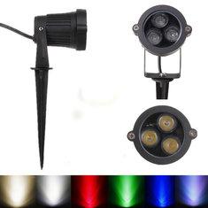 6W LED Flood Spot Light With Rod For Landscape Garden IP65 DC 12-24V