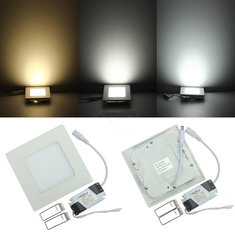Dimmable 6W Square Ultra Thin Ceiling Energy-Saving LED Panel Light