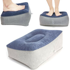 Inflatable Foot Rest Pillow Travel Home Help Reduce DVT Risk Trips Flight Relax Air Cushion