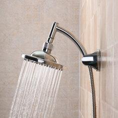 6'' Round Polished Rainfall Bath Bathroom Sprinkler Top Shower Head Bathhouse