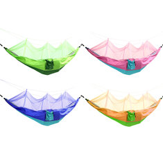 Outdoor Mosquito Net Double Hammock Hanging Swing Bed Parachute Nylon For Camping Travel
