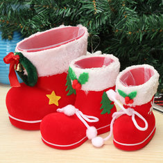 GIFT Santa Pants Elf Spirit Boots Shoes Candy Gift Bag Sack Stocking Filler
