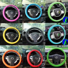 Leather Texture Car Auto Silicone Steering Wheel Glove Cover Soft Muti Color