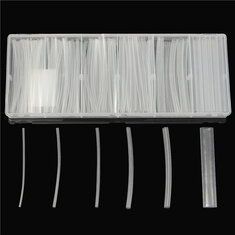150Pcs Transparent Polyolefin 2:1 Halogen-Free Heat Shrink Tubing Kit 6 Sizes