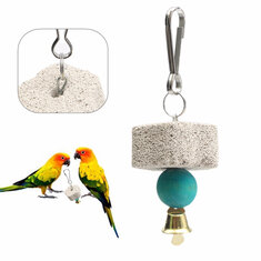 Parrot Mouth Grinding Stone Cage Toy Parakeet Cockatiel Toy Mineral 4cm Parrot Mouth Grinding Stone